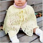 手編みキット 編み図付(N-1049) ハマナカ かわいい赤ちゃんで編む「パイナップルベビーケープ」 ベビーニット  赤ちゃん用品