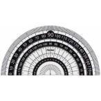 レイメイ 白黒分度器 9cm APJ151B 黒 東急ハンズ