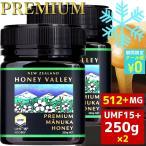 マヌカハニー UMF15+ 250g 天然蜂蜜 ハニーバレー 2個