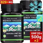 マヌカハニー UMF20+ 500g 天然蜂蜜 ハニーバレー 2個セット MGO829以上 はちみつ 蜂蜜