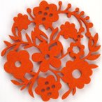 コースター ポリエステルフェルトシリーズ 「ガーデン」 オレンジ 41011CDOR (8675848) 【送料別】【通常配送】