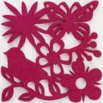 コースター ポリエステルフェルトシリーズ 「バード」 ピンク 6005CDPK 【pink】 (8675899) 【送料別】【通常配送】