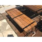 アイアン ベンチ (2人掛け用椅子) 【鉄製&木製】 無垢材使用のインでもアウトでも使えるグランピング家具