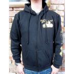 ラングリッツレザー パーカー Langlitz Leathers Full-zip Hooded Sweat Type LL272 BLACK x GOLD