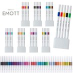 【三菱鉛筆】 水性サインペン EMOTT エモット 5色セット 8種類