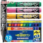 シャチハタ 乾きまペン 12色セット 太字 角芯  『送料無料』 マーカー ペン 乾きまぺん