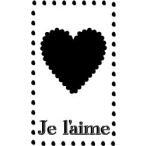 ゴム印/タグスタンプ23×39mm/tag2339-013 「Je l'aime」