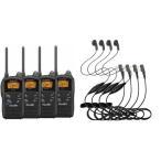 特定小電力トランシーバー 無線機 インカム KENWOOD JVCケンウッド4台セット・ UTB-10(4台) +  HD-12K(4個)イヤホンマイクセット