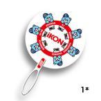【送料無料・速達・代引不可】 iKON (アイコン) うちわ 1本 (KRUNK BEAR + LOGO) グッズ