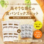 送料無料 高そうな感じの純国産全粒粉パンミックス6個セット + ドライイースト付属(半鐘屋オリジナル)
