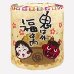 販促市場で買える「トイレットペーパー 節分 100個販売 立春 春を告げる 行事 豆まき トイレットロール」の画像です。価格は54円になります。