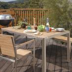 ライズダイニングテーブル4点セット /ガーデンファニチャー/ガーデンファニチャーセット/ガーデンテーブル/ガーデンチェアー / 天然木製 / チーク