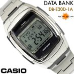 CASIO カシオ メンズ腕時計 DATA BANK データバンク ソーラー DB-E30D-1A シルバー チープカシオ
