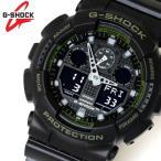 カシオ CASIO Gショック G-SHOCK アナデジ メンズ 腕時計 ブラック 緑 カーキ GA-100L-1A