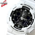 ショッピングカシオ カシオ CASIO Gショック G-SHOCK アナデジ メンズ 腕時計 ブラック 白 グレーGA-100L-7A