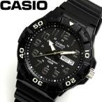 カシオ CASIO ダイバールック DIVER LOOK クオーツ メンズ 腕時計 ブラック シルバー MRW-210H-1A