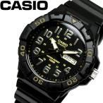 カシオ CASIO ダイバールック DIVER LOOK クオーツ メンズ 腕時計 ブラック ゴールド MRW-210H-1A2