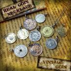 メンズ ネックレス メンズネックレス アンティーク コイン シルバー 925