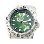 セイコー SEIKO スーペリア 逆輸入 自動巻き 日本製 メンズ 腕時計 グリーン×シルバー メタルベルト SSA093J1