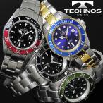腕時計 メンズ 時計 テクノス 防水 TECHNOS ダイバーズウォッチ TSM402