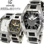 【送料無料】メンズ 腕時計 ウォッチ 芸能人着用 US203-GDBK ブランド ブラック×ゴールド