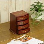 小引出し キーボックス 卓上小引き出し RE1819 4段 幅18cm 奥14.6cm 高19.5cm 天然木製 完成品