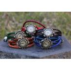 古董手錶 - ブレスレット時計 レディス腕時計 アンティク 本革ベルト  クォーツ時計レザーブレスレットタイプ ウォッチNo1