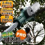 高枝切りチェーンソー 切断機 221〜285cm コードレス 充電式 調節OK 高枝チェンソT-0513