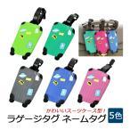 ネームタグ スーツケース柄  荷物タグ スーツケース ネームホルダー かわいいタグ トラベル 旅行 バッグ カバン 荷物 目印 紛失防止
