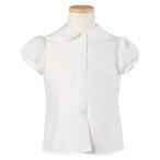 シフォン半袖ブラウス 白 お受験ブラウス 子供服 子ども服