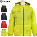 Crocs (クロックス) ジャンパー ジュニア キッズ 男の子 中綿 ボア フード付 コート 防寒 ジャケット アウター 全4色