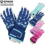 スキーグローブ crocs(クロックス) 子供 スキー 手袋 キッズ 女の子 三層式で防水・防寒 五本指 スノーグローブ 全4色