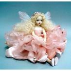 若月まり子 お花の妖精人形♪エルフィンフローリー:フローラ(ピンク)ビスクドール 妖精 フラワーフェアリー 陶器 お人形 ギフト お祝い 記念品 陶