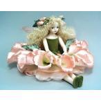 若月まり子 お花の妖精人形♪エルフィンフローリー:ジギタリスビスクドール 妖精 フラワーフェアリー 陶器 お人形 ギフト お祝い 記念品 陶器(a-036