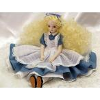 若月まり子 ビスクドール♪不思議の国のアリス(カールヘア)ビスクドール アリス 陶器 お人形 ギフト お祝い 記念品