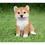 アニマルオブジェ:柴犬(子犬)犬 置物 インテリア 動物 オブジェ 子犬