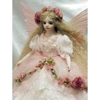 若月まり子 創作ビスクドール 妖精少女 「ジュスティーン」若月まり子 フラワーフェアリー 妖精 天使 エンジェル 人形 ビスクドール ギフト お祝い