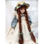 若月まり子 ビスクドール「赤毛のアン」(ドールスタンド付)ビスクドール 赤毛のアン 陶器 お人形 ギフト お祝い 記念品 陶器