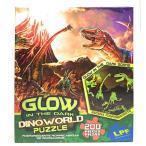 ジグゾーパズル 5才以上 人気パズル パズル おもちゃDinoWorld Puzzle - The Last Dinosaurs - Glow In The Dark - 200 Pieces 正規輸入品