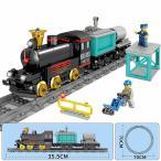 ブロック互換 レゴ 互換品 レゴトロッコ機関車+カーゴトレイン 鉄道 電車 クリスマス プレゼント
