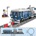 ブロック互換 レゴ 互換品 レゴDF11Z ディーゼル機関車 ブルー 鉄道 電車 クリスマス プレゼント
