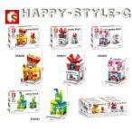 ブロック互換 レゴ 互換品 レゴミニモジュール ポップコーンショップ他4個セット レゴブロック LEGO クリスマス プレゼント
