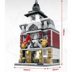 ブロック互換 レゴ 互換品 レゴミニモジュール 消防局 レゴブロック LEGO クリスマス プレゼント