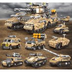 ブロック互換 レゴ 互換品 レゴ戦車 軍用車両 ミサイル車など8in1 25種組立 互換品クリスマス プレゼント