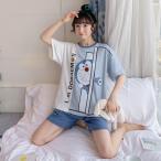 ドラえもん 半袖 パジャマ 2点セット ルームウェア 大きいサイズ 上下セット 部屋着 おしゃれ 可愛い 寝巻き ナイト ウェア 超人気