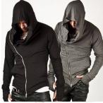 さらっと羽織れる一枚 メンズ アサシンクリード 風 パーカ フード パーカー ジップ ジップアップ S M L XL 2XL 3XL yz0363