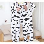牛 着ぐるみ メンズ うし コスプレ かわいい ウシ 着ぐるみパジャマ 大人 動物 パジャマ レディース