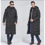 ダウンコート メンズ ダウンジャケット ロング フード付き ベンチコート ファー付き アウター 大きいサイズ