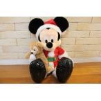 【数量限定】クリスマスプレゼントに♪小さなダッフィーを抱いたサンタクロースミッキー*paris-3