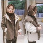 ショッピング子供服 子供服 キッズ  両面着コート フェイクムートンアウター 秋冬 ふわもこ ジャケット キッズ 子供服  ジャケット 女の子 暖かい
